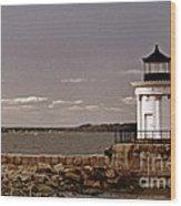 Portland Breakwater Lighthouse Wood Print