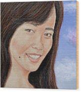 Portrait Of A Filipina Beauty Wood Print by Jim Fitzpatrick