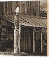 Post Office-gas Station Ghost Town Wagoner Arizona 1968 Wood Print