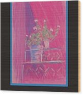 Poster - Pink Geranium Wood Print by Marcia Meade