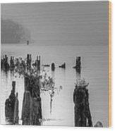 Potomac Fog Wood Print