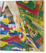 Prayer Flags Wood Print