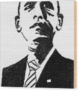 President Barack Obama Wood Print by Ashok Naraian