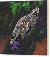 Psychedelic Mallard Duck 1 Wood Print