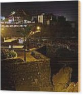 Puerto De La Cruz By Night Wood Print