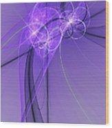Purple Illusion Wood Print