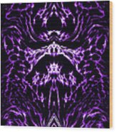 Purple Series 1 Wood Print