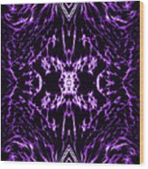 Purple Series 2 Wood Print