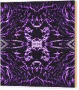 Purple Series 9 Wood Print