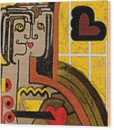 Queen Of Hearts Of Egypt Wood Print