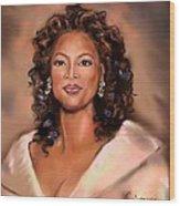 Queen Of Talk Show Wood Print