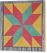 Quilting The Barn  Wood Print