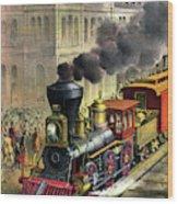 Railroad, 1874 Wood Print