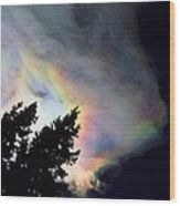 Rainbow Cloud Wood Print