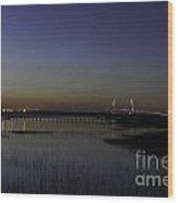 Ravenel Bridge At Dusk Wood Print