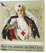 Red Cross Poster, C1918 Wood Print