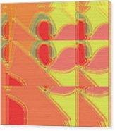 Red Effect Wood Print by David Skrypnyk