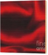 Red Folded Satin Background Wood Print