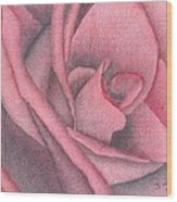 Red Jewel Wood Print