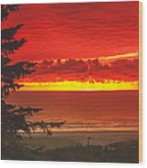 Red Pacific Wood Print