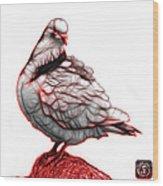 Red Pigeon Pop Art 5516 - Fs - Bb -  Modern Animal Artist James  Wood Print