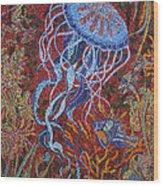 Red Reef Wood Print