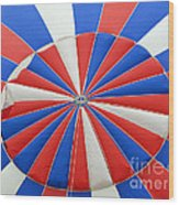 Red White And Balloon  Wood Print