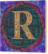 Registered Trademark Symbol Wood Print