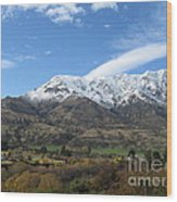 Remarkables Mountains Wood Print