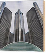 Renaissance Center Wood Print