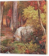 Richards' October Wood Print