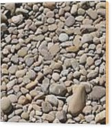 River Rocks Pebbles Wood Print