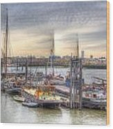 River Thames Boat Community Wood Print