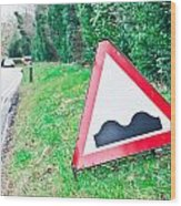Road Sign Wood Print