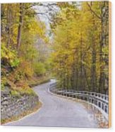 Road With Curves Wood Print