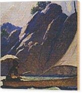 Robinson Crusoe, 1920 Wood Print