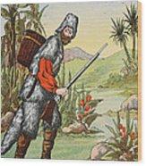 Robinson Crusoe Wood Print