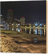 Rochester At Night Wood Print