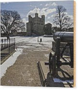 Rochester Castle Wood Print
