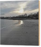 Rocky Neck Beach Wood Print