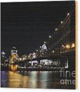 Roebling Suspension Bridge 9939 Wood Print