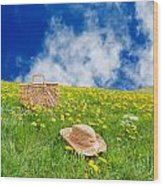 Rolling Dandelion Meadow Wood Print
