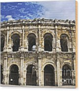 Roman Arena In Nimes France Wood Print