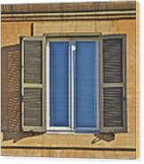 Roman Window Wood Print