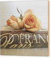 Paris Romantic Wood Print