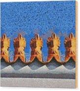 Roof Decoration Wood Print