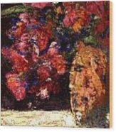 Roses Wood Print by Daniel Bonnell