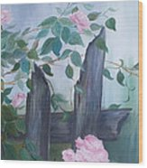 Roses Wood Print by Glenda Barrett
