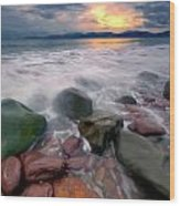 Rossbeigh Beach Wood Print