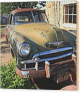 Route 66 Classic Car Wood Print